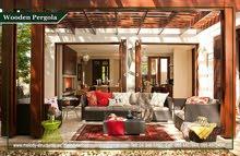 Wooden Pergola Suppliers in Khalifa City  Patio Pergola  Garden Pergola in Abu Dhabi