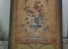 لوحة أنتيكة زهور الطبيعة