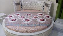 مفرش سرير دائري تفصيل وخياطة