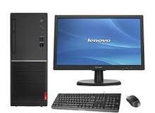 جهاز  كمبيوتر نوع لينوفه مع شاشة وكيبورد وماوس 330 دينار