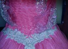 فستان خطبة خياطة يد شبه جديد
