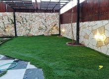 تنسيق حدائق زراعة أشجار ونجيل بناء شلال باربكيو فير بليس نوافير برك سباحة شيك مز