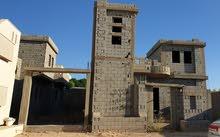 هيكل بناء لمنزلين