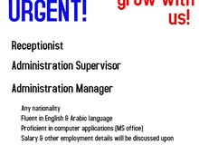 URGENT HIRING FOR ADMIN MANAGER