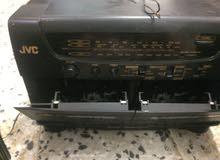 مسجل جي في سي  الاصلي دبل كاسيك مع سماعات 2 مع امكانية التسجيل من نفس المسجله