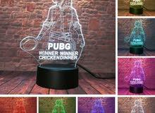 ستاند ببجي المميز بإضاءة ملونة - PUBG 3D RGB Lamp