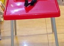 كرسي طعام اطفال ارتفاع متر مع حزام امان