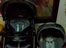 طقم عربة مع كرسي متنقل للاطفال