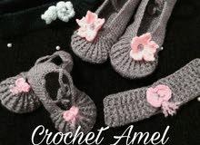 جوارب نسائية بالكروشي