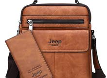 JEEP BULUO Brand Men's Crossbody Shoulder Bags High quality Tote Fashion Busines