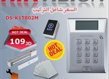 نظام التحكم بالمداخل Access Control عن طريق البطاقات وكلمة السر Hikvision DS-K1T802M