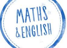 تدريس وتأسيس في الرياضيات واللغه الانجليزية للمرحله الابتدائية و الاعداديه