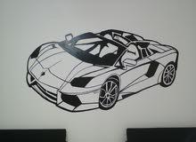رسم علي الجدار