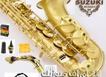 Suzuki Alto Saxophone Color Gold Laquer