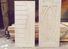 ابواب بسعر يبداء من 350الى 1500 خشب مسكى فرلندى