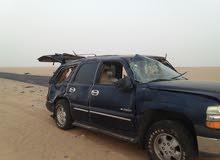 السيارة  شيفروليه تاهو مقلوبه في صافر اثناء الزيارة عند الاهل في اليمن