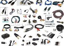 يتوفر لدينا جميع انواع الاسلاك و الوصلات الالكترونية وجميع جكات الصوت بافضل المواصفات واقل الاسعار