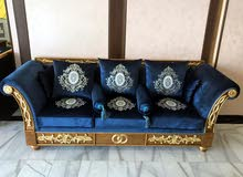Vintage classic luxurious Oak Aroo Sofa Set in great condition for sale