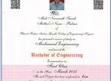 Mechanical Engineer looking Job
