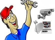 مطلوب فني كاميرات مراقبة اقامة قابل للتحويل، راتب 250