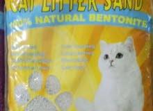7 أكياس رمل قطط مع هديه