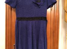 فستان شتوي قصير لون نيلي غامق