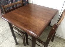 wooden brown table for 2
