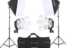 طقم إضاءة صور ستوديو من أندوير قابس المملكة المتحدة 220 فولت
