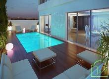 شقة فاخرة بالمسبح والحديقة للكراء في حدائق قرطاج  تونس