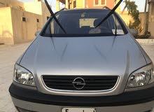Silver Opel Zafira 2002 for sale
