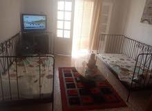 """منزل للايجار في قليبية وسط المدينة مؤثثة جيدا  و تكييف هواء  """"s+2 """"53139215"""