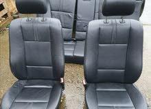 كراسي كاملات بي ام اكس 3 جلد اسود e83 X3 seats