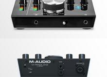 للبيع .. M Audio M Track 2X2  2 In / 2 Out 24/192 USB Audio Interface