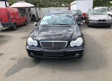 Black Mercedes Benz C 200 2003 for sale