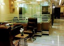 مكتب مجهز شامل الخدمات للتأجير الشهري والسنوي في العليا