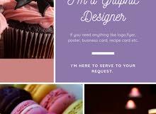 I'm a Graphic Designer, I can design logo, book cover, flyer and etc..