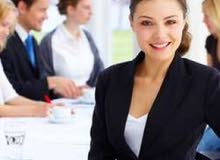 فرصة عمل مميزة للاناث للعمل ضمن شركة عقارية
