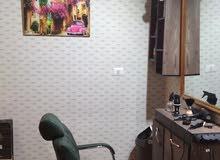 حلاق في جنزور كرسي واحد للايجار محل صغير