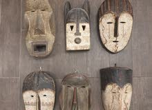 African Style /Hand Carved Wooden Masks/ Attractive wall Decor