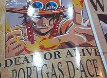 ملصقات مطلوبين ون بيس بشخصيات النادرة 10د