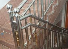 تشكيل وتركيب جميع اعمال الاستيل(الفولاذ) دربزينات الدرج،شبك محلات الصرافة وغيرها
