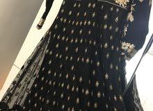 Black sequins embellished full gown
