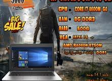 HP ELITEBOOK 840 G2 CORE I7 جيل رابع+ كارت شاشه DDR5- لبرامج ال 3D بكفاءه