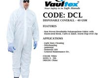 DISPOSABLE COVERALL AVAILABLE 30 and 40 gsm