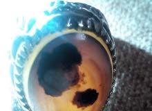 خاتم فضة عقيق مصور