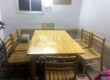 .Wooden dining table set for urgent sale