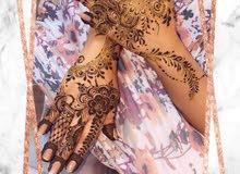henna designing home service تصميم الحناء