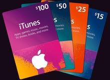 iTunes gift card كرت اي تونز