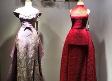 فستان سهره أحمر راقي جدا
