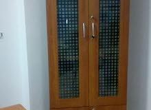 مكتبة الوان خشب ×زجاج